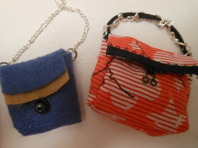 How to make doll bag, purse