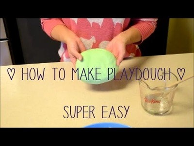 How To Make Playdough ♡ Super Easy DIY by Goldstar Glitter