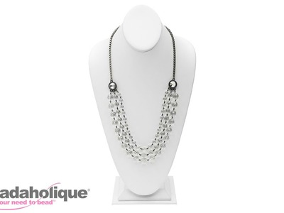 How to Make the Multi-Strand Crystal Elegance Necklace