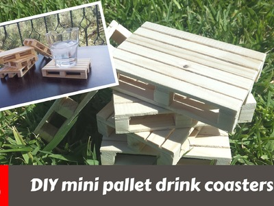 How to make wood pallet drink coasters (FS WoodWorking)