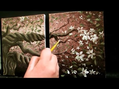 How to paint blossoms on a tree
