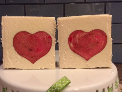 Making and cutting 'Sweetheart' soap (a cold process soap with soap embeds)
