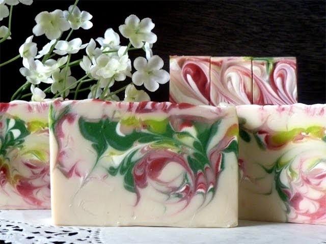 Making Strawberry Fields Soap