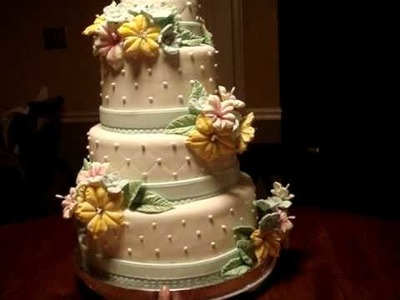 My First Wedding cake- my 10th fondant cake