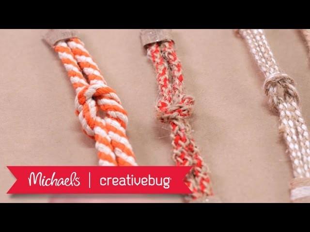 Nautical Bracelet | Mini Project Class | Michaels & Creativebug