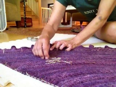 Part 4: Blocking a Shawl with Blocking Wires and Pins