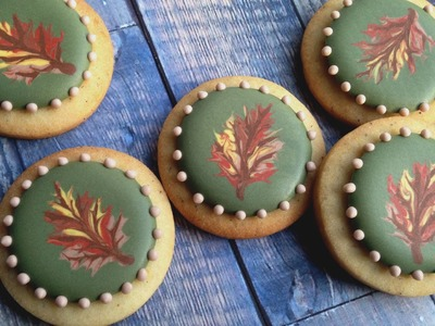 Royal Icing Transfers For Fall! Thanksgiving Dessert Collab