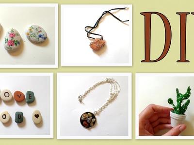 5  Beach Stones Craft Ideas- DIY-(Beach Wedding Decorations + Jewellery Ideas| by Fluffy Hedgehog