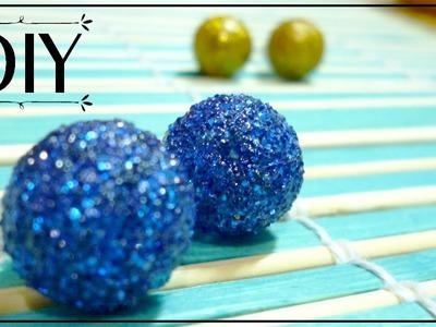 DIY - GLITTER EARRINGS - Perfect Gift Idea ♥