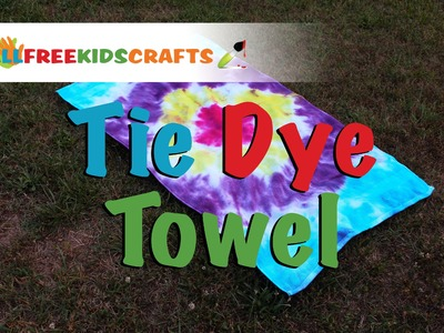 DIY Kids Craft: How To Tie Dye a Towel