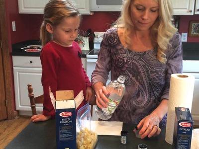 How to Dye Pasta: An Easy Preschool Craft
