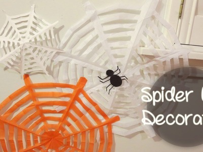Last Minute Spider Web Decoration for Halloween | Sunny DIY