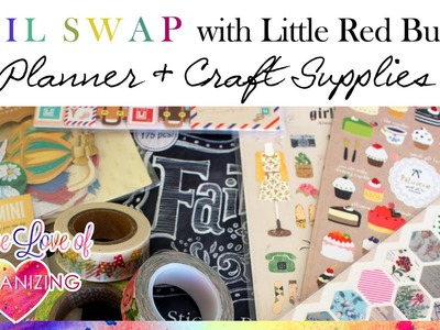 Mail Swap with Little Red Buttons: Planner and Craft Supplies