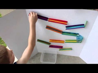 Craft Stick Marble Run