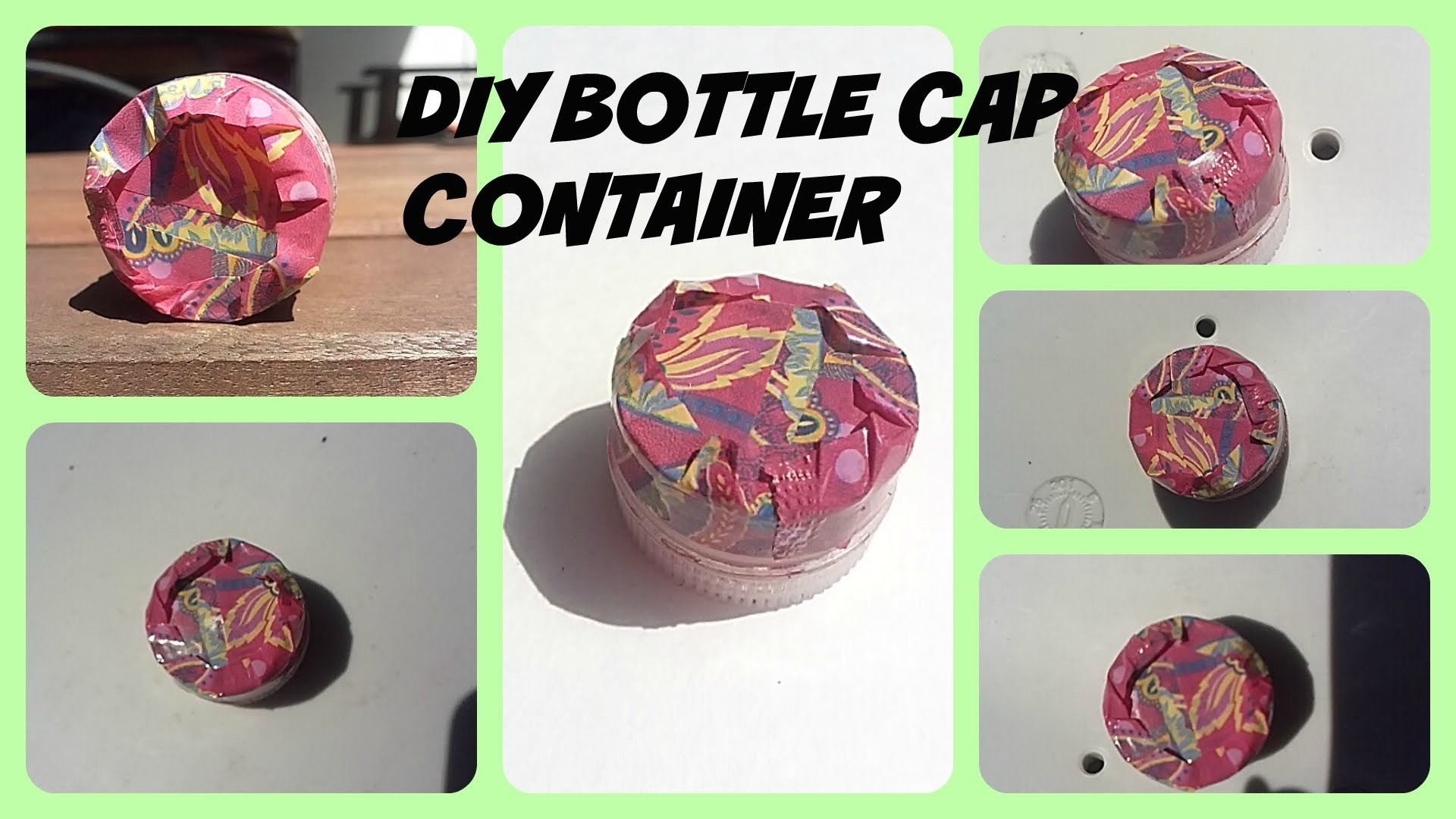 DIY. How to make a bottle cap container (easy craft)