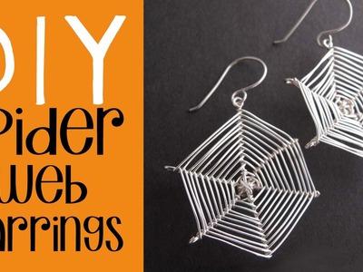 Halloween DIY - Spider Web Earrings Tutorial - Easy Halloween Costume