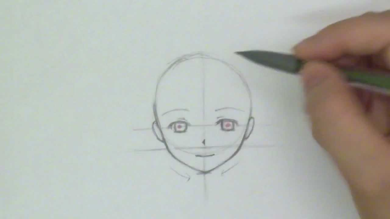 How to Draw a Manga Face: Front View [Reupload]