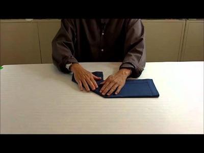 How to fold napkin into a Graduation Cap