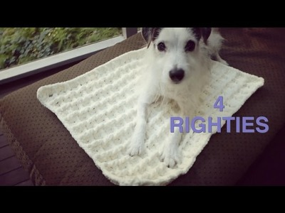 Watch How To Crochet 3D Waffle Pattern 4 A Rug.Blanket - (4 Righties)