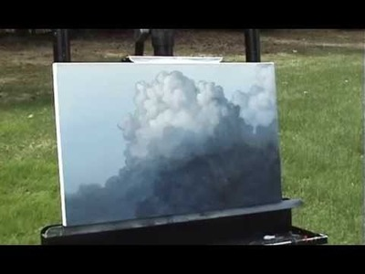 Big Puffy Clouds time lapse speed painting in acrylic by Tim Gagnon http:.www.timgagnon.com