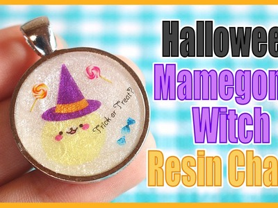 Halloween Mamegoma Witch Resin Charm [Collab with PolymomoTea]