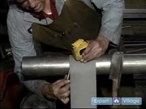 How to Build a Steel Spiral Staircase : Marking the Center Pole for a Spiral Staircase