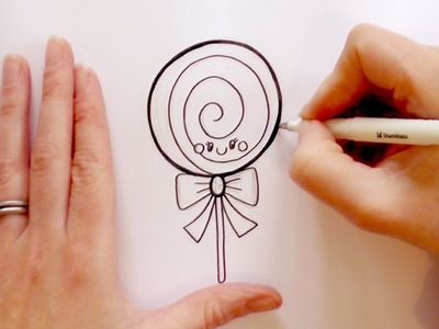 How to Draw a Cartoon Lollipop