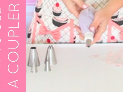 How To Fit A Piping Bag With A Coupler | Cupcakes 101 Video: Quick, Easy Tips & Tricks