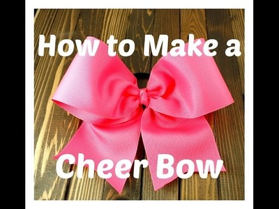 How to Make a Cheer Bow - Hairbow Supplies, Etc.