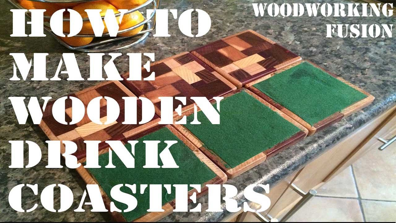 How to Make Wooden Drink Mat Coaster(Scrap Wood)✔