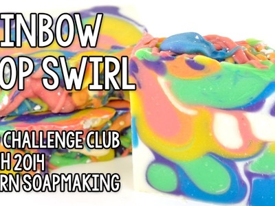 Rainbow Drop Swirl Soap - Great Cakes Soapworks Soap Challenge Club (March 2014)