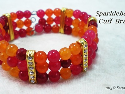 Sparkleberries Cuff Bracelet Tutorial