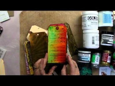 Texture Pastes.Mediums Techniques Tutorial. Art Of Craft