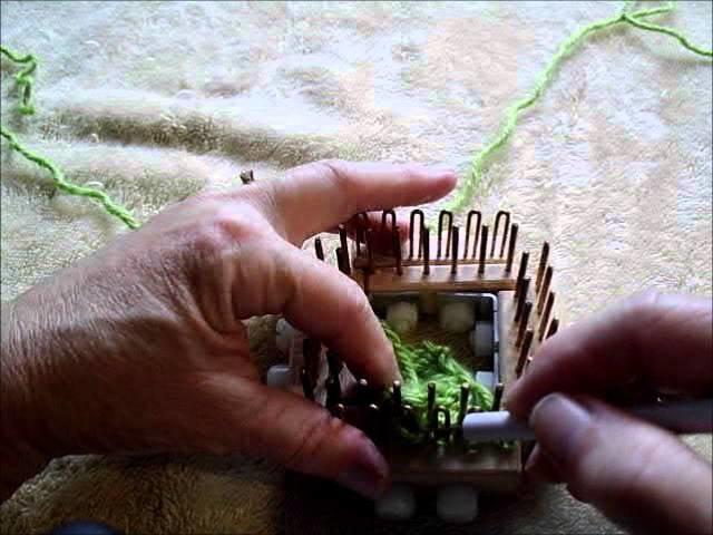 Transfer bind off regular gauge kiss loom