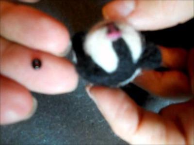World of Sneffca Part 2 Needle Felting Guinea Pig Feet & Attaching Eyes