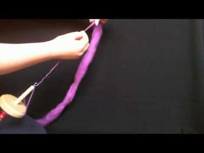2 - How to Park and Draft.Spin a Drop Spindle - Tutorial