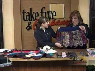 CraftSanity on TV: Making aprons out of ties