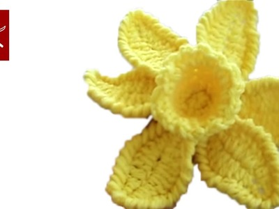 Crochet Flower Daffodil 1 - Crochet Geek May 31 Video