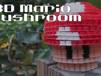 DIY: 3D Mario Mushroom | Bead Sprites (Perler.Hama Beads)
