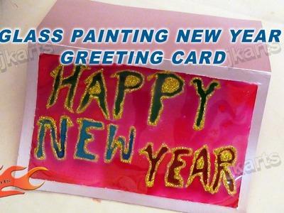 DIY Glass painting New Year Greeting card - JK Arts 118
