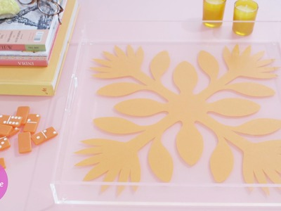 DIY Hawaiian Print Tray - DIY Style with Erin Furey - Martha Stewart