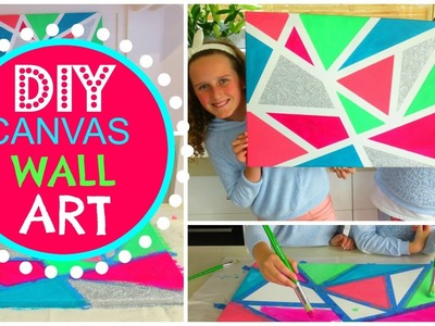 DIY Room Decor Wall Art - How To Make Canvas Wall Art - Geometric Canvas Art