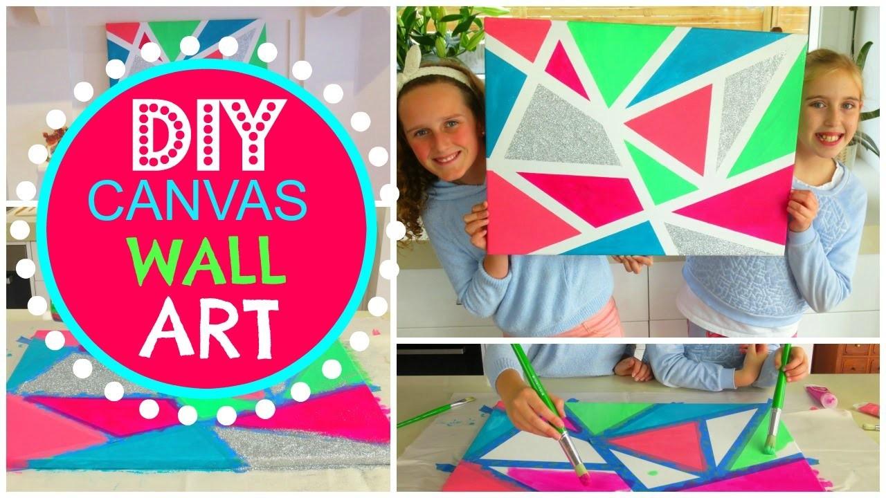 DIY Room Decor Wall Art - How To Make Canvas Wall Art - Geometric Canvas Art