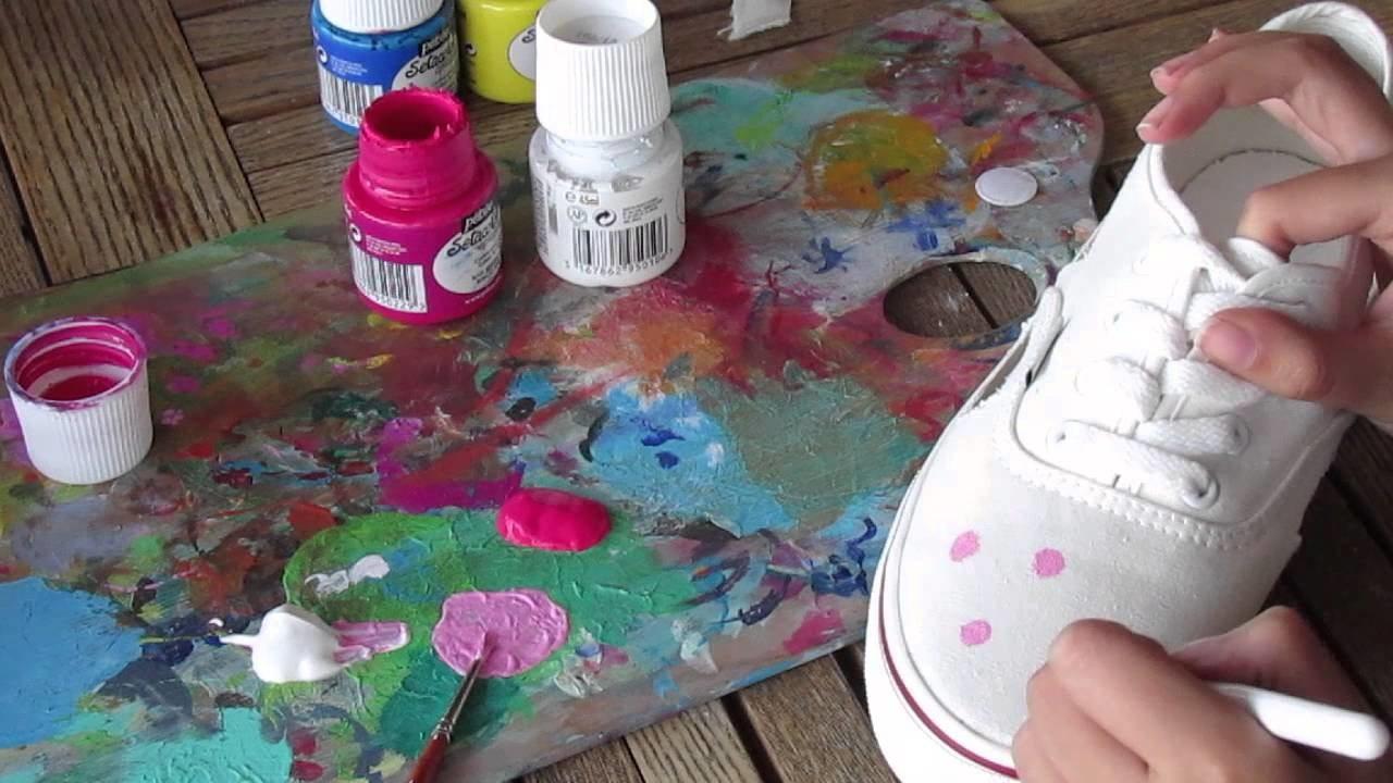 DIY shoes (floral and cut out) ☆