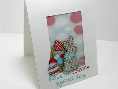 Easter Shaker Card using Lawn Fawn and Paper Piecing