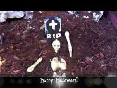 Halloween Decorations - (Mini Garden Cemetery Tutorial)