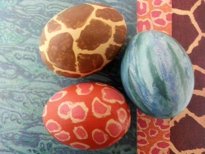 Hand Painted Easter Egg Tutorial inspired by DCWV paper