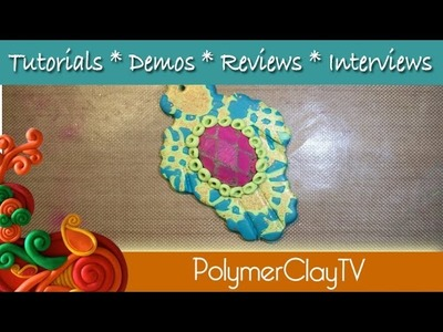 How to Create a Polymer Clay Hamsa using Bling Mold