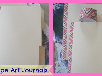 How to make a Art Journal From File Folders and Duct tape. DIY Duct Tape Art Journal