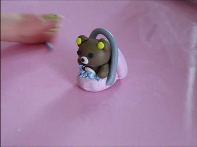 How To Make A Rilakuma in An Easter Basket [Polymer Clay]